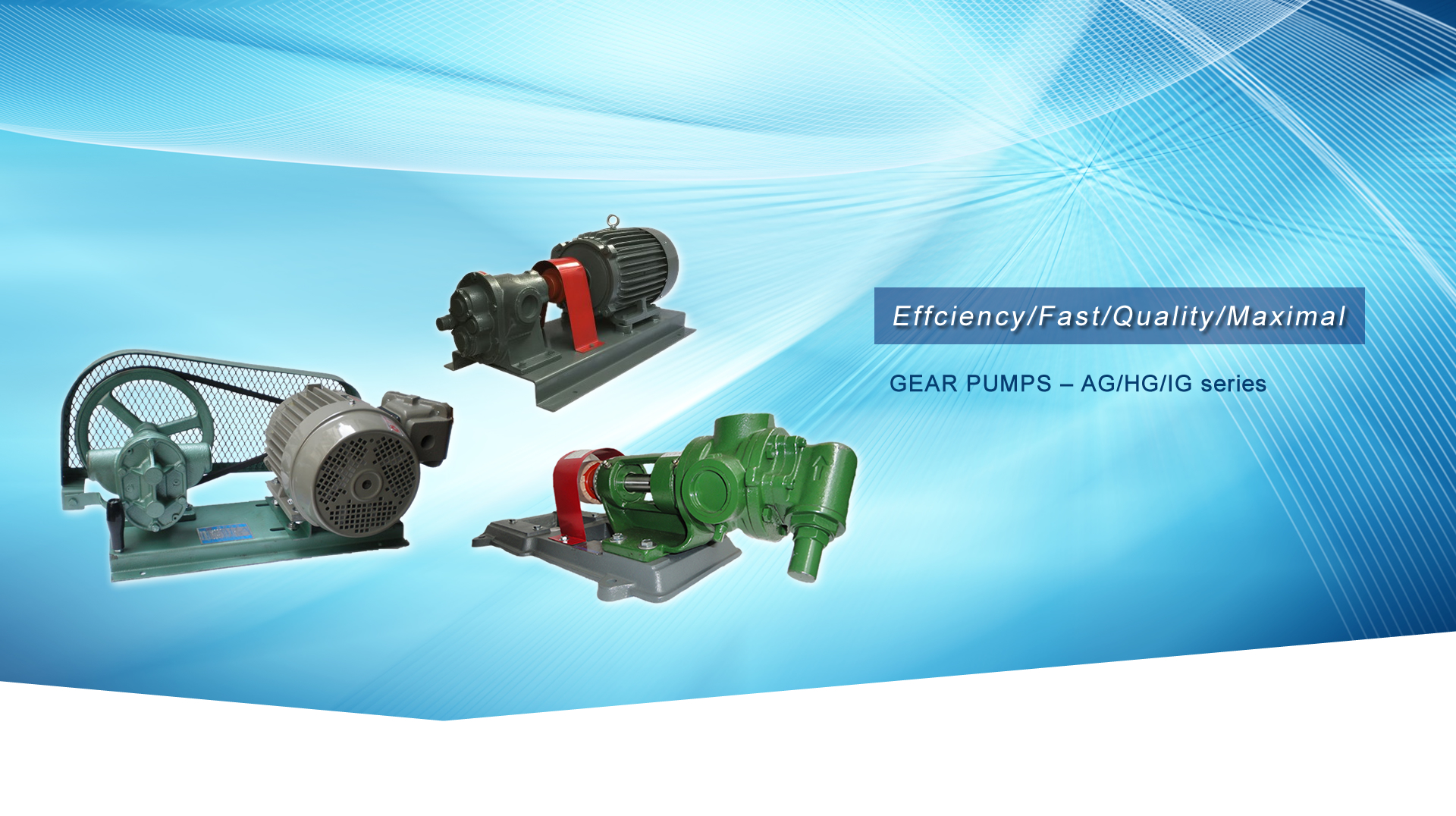 GEAR PUMPS – AG/HG/IG series