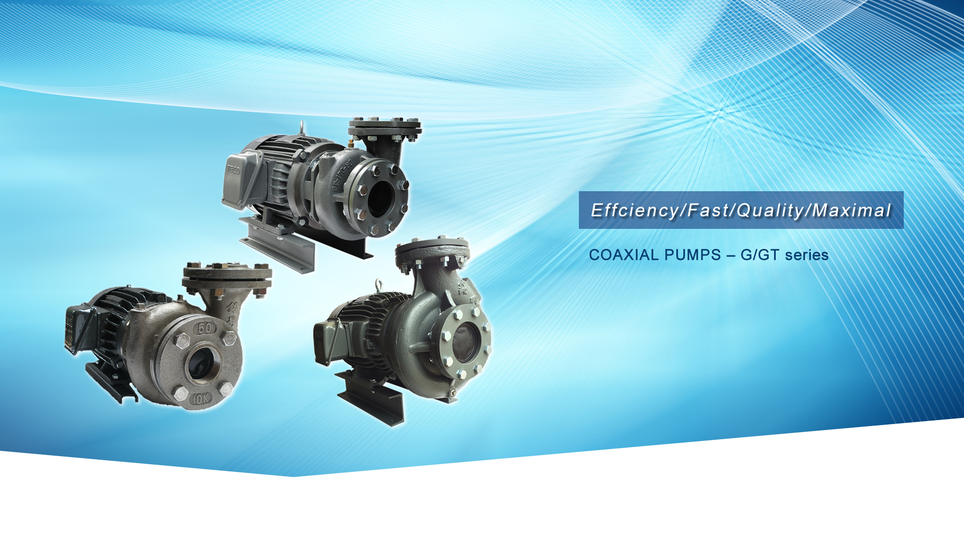 COAXIAL PUMPS – G/GT series