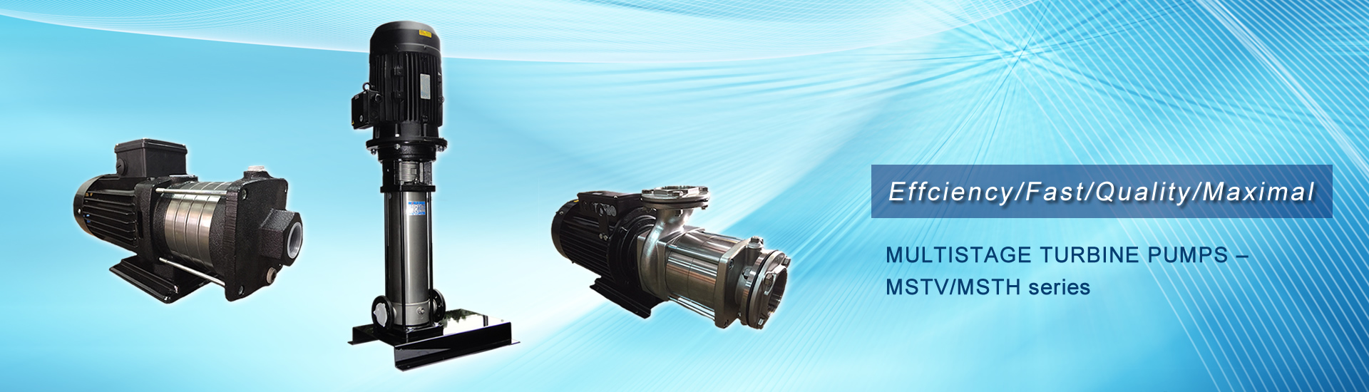 MULTISTAGE TURBINE PUMPS – MSTV/MSTH series